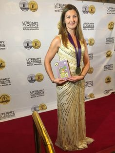 A CHILDREN'S author from Seend is on cloud nine after receiving an international literary award in Last Vegas last Friday.