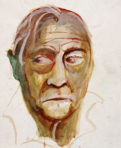 Portrait of Patrick White undated. By Brett Whiteley