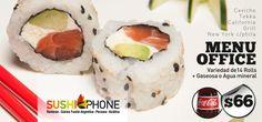 El mejor delivery de Sushi . SushiPhone Menu Office. Delivery de Sushi en caballito, Palermo , Belgrano,Nuñez, Micorcentro, Puerto Madero