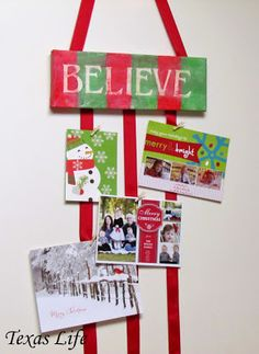 Christmas Sign And Card Holder