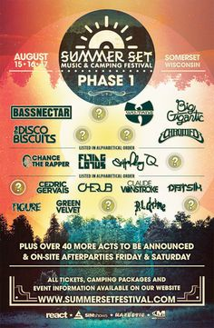 Summer Set Music & Camping Festival phase 1 line up announcement