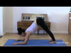 Yoga Asana Forearm Balance, Pincha Mayurasana to Scorpion Pose with Brio...