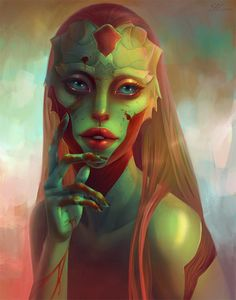 Killer by ellrano on DeviantArt not sure whether this is supposed to look like a female thane Krios but it sure does...