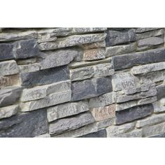Superior Building Supplies Cliff Grey 24 in. x 48 in. Faux Grand Heritage Stack Stone Panel - - The Home Depot Faux Brick Wall Panels, Stone Veneer Panels, Faux Stone Panels, Faux Panels, Faux Brick Walls, Stacked Stone Panels, Dry Stack Stone, Interior Window Trim, Waterfall House