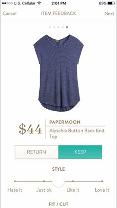 love the color, and button back detail is cute. Good teacher mommy/band teacher style! Would love to see this in a fix soon.