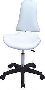 Our Athena stool adds something different to your salon, office of reception.  Fabulous high back support, ergonomic seat pad and hydraulic lift for height adjustment.  Available in black and white. http://www.therapy2000.com/stools-chairs-seating/ZD2104.html