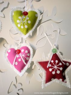 Scrap Buster Projects | A Spoonful of Sugar - Ornaments