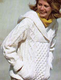 I would love one of these! So comfy, and so very cute! For the more experienced knitter, show off your skills with this retro, soft, and feel good