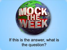 Brilliant Mock of the Week style quiz for fun revision lessons!