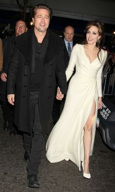Angelina Jolie And Brad Pitt Arrive At The Premiere Of The Tourist, New York 2010