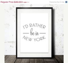 10% OFF Typography Print Type Poster New York Poster by paperchat
