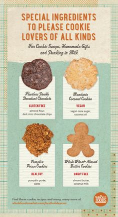 We've got cookie recipes to fit all kinds of special dietary needs! #holiday #dessert #cookie #recipe