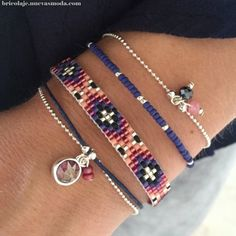 Luxury Jewelry : Little Wishes - Royal Blue - Seed Bead Jewelry, Bead Jewellery, Beaded Jewelry, Jewelery, Women's Jewelry, Jewelry Holder, Loom Bracelet Patterns, Bead Loom Bracelets, Bracelet Fil
