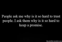 Trust and promise