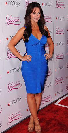 Herve Leger V neck Front Zip Royal Blue Bandage Dress Blue Bandage Dress, Bodycon Dress, Top Celebrities, Celebs, Jeniffer Love, Jennifer Love Hewitt Pics, Hollywood, Hot Brunette, Celebrity Dresses