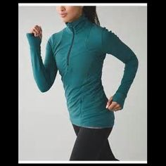 lululemon kanto catch me 1/2 zip NWT...super soft and cozy 1/2 zip pullover...amazing and loved Rulu fabric, thumb holes, reflective details, and zipper storage...great green color! open to offers and CHEAPER on ♏️! lululemon athletica Tops Tees - Long Sleeve