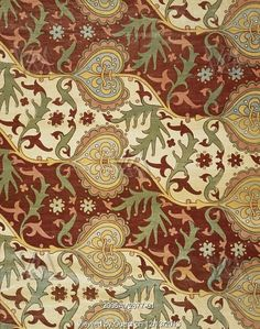 Gothic Arabesque material, by A.W.N. Pugin. England, mid-19th century