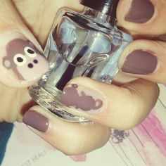 "I my mind on the #monkey and the "" monkey "" on my mind #nailart #nails #monkeynail #opi #becreativemakeup"