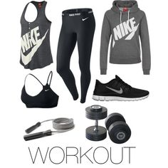 Nike Workout Outfit and Gear Nike Outfits, Moda Outfits, Sport Outfits, Casual Outfits, Cute Workout Outfits, Workout Attire, Workout Wear, Workout Shorts, Nike Workout Gear