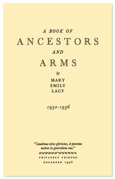 A Book of Ancestors and Arms | eBook available from RootsPoint for only $4.99.