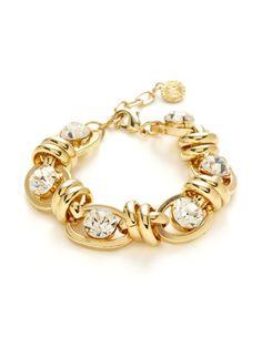 Gold & Crystal Bracelet by R.J. Graziano on Gilt.com