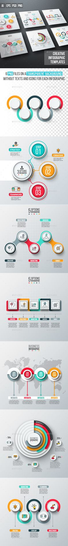 Business infographic diagrams v.12Abstract infographics number options template. Vector illustration. Can be used for workflow layout, diagram, business step options, banner, web design You can use this infographic template to visualize your data in a different ways such as: presentations, posters, brochures, business cards, flyers, magazines etc. MAIN FEATURES: - Well organized - Fully layered - 100% Vector ZIP PACKAGE INCLUDES: - 6 EPS10 files - 6 AI CS2 files with editable text - 6 PSD la