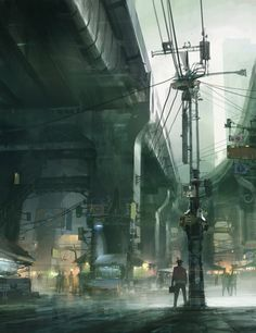 Need some inspiration for the weekend? Check the beautiful concepts art made by Theo Prins, concept artist at ArenaNet See Also on IT'S ART : Guild Wars 2 Cyberpunk City, Arte Cyberpunk, Futuristic City, 3d Fantasy, Fantasy Landscape, Environment Concept Art, Environment Design, Guild Wars 2, Science Fiction Kunst