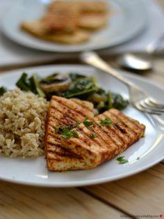 tofu grelhado,arroz, legumes salteados