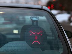 Car LED Emoticon - Let the cars behind you know how you feel. Remote Controlled.