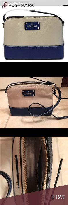 """Kate Spade Hanna Wellesley purse-NWT Brand new Kate Spade Hanna Wellesley cross body purse.  Color is pebble/hyacinth-interior has one slip pocket-strap is adjustable-zip closure.  Dimensions-9"""" L x 6.5"""" H x 3"""" D-small bag that is perfect for a night on the town. kate spade Bags Crossbody Bags"""