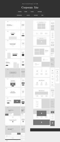 Design Websites, Site Web Design, Flat Web Design, Design Ios, Web Design Trends, Logo Design, Wireframe Web, Wireframe Design, Responsive Web Design
