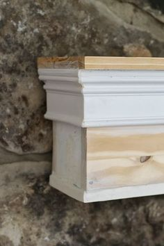 How to build a mantel for around $30! This is great!