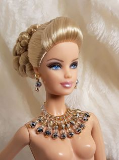 Handmade Set Silver & Clear Color Bead Necklace Earrings Jewelry For Barbie Doll Diy Barbie Clothes, Barbie Hair, Barbie And Ken, Doll Hair, Doll Wigs, Leaf Jewelry, Hair Jewelry, Silver Jewelry, Silver Rings