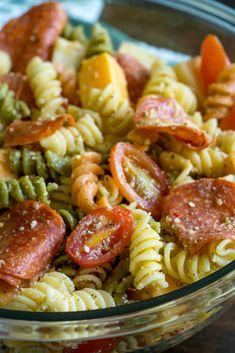 Pepperoni Pizza Pasta Salad 6