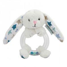 Rasselring Hase mixed stars mint Mint, Smurfs, Barbie, Teddy Bear, Beige, Pillows, Toys, Children, Animals
