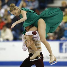 Nelli Zhiganshina and Alexander Gazsi of Germany compete in their free skate ice dance program during the Skate Canada International figure skating competition in Saint John, New Brunswick.