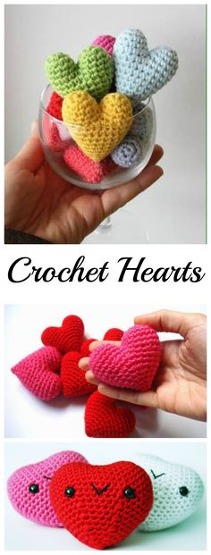 Crochet Small Cute Hearts