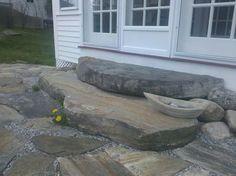 Rockport reclaimed granite steps