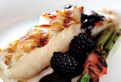 Grilled Sea Bass with Blackberry Balsamic Reduction