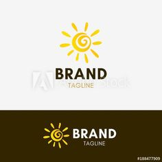 a80c254c45 Sunny Logo template element symbol in yellow color - Buy this stock vector  and explore similar vectors at Adobe Stock