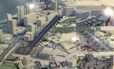 Dubai Steps is a cultural and sport project with includes 500 stairs symbolizing the challenges and progress of Dubai.