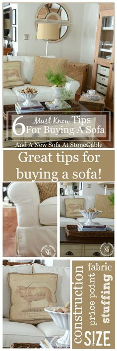 6 MUST KNOW TIPS FOR BUYING A SOFA-an easy guide to buying the best sofa for you-stonegableblog.com