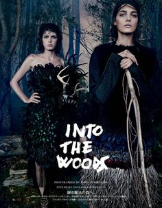 visual optimism; fashion editorials, shows, campaigns & more!: into the woods: zlata mangafic, katryn kruger, sophie touchet, dasha gold, veroniek gielkens, pauline hoarau and bruna rosa by emma summerton for vogue japan october 2014