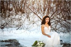Frosty Winter Wedding Styled Shoot in Leavenworth at Silvara Winery with Pollen in Love, CORT and French Knot Couture Seattle Wedding, Love Hair, Perfect Fit, Bliss, One Shoulder Wedding Dress, Knot, Curly Hair Styles, Wedding Planning, Hair Makeup