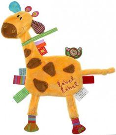 Kocyk przytulanka z metkami Friends Żyrafa Label Label LLFR1204