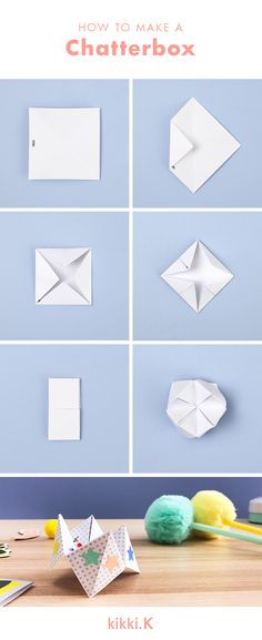 how to make a chatterbox fortune teller paper craft ideas
