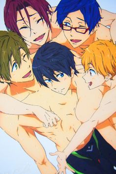 The Free! Iwatobi swim club boys. Must show this to my crazy fangirl friends to make them go crazy fangirl