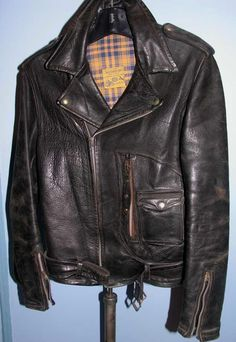 BECK Horsehide Leather Motorcycle Jacket 1940s-50s
