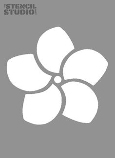 Flower Stencils Images | ... stencils from The Stencil Studio. Beautiful Frangipani Flower stencil