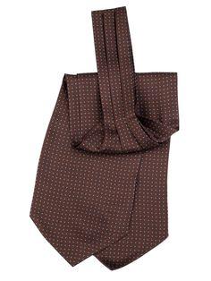 Maggiore-Handmade Silk Ascot Tie-Chocolate